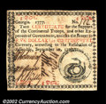 Colonial Notes:Georgia, Georgia September 10, 1777 $5 Extremely Fine. A ...