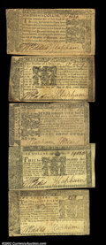 Colonial Notes:Maryland, Five 1774 Maryland Notes. All are from the April 10 issue, ...