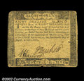 Colonial Notes:Maryland, Maryland August 14, 1776 $8 Very Fine. A less common ...