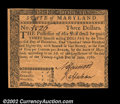 Colonial Notes:Maryland, Maryland June 28, 1780 $3 Very Choice New. A near-Gem ...