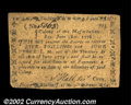 Colonial Notes:Massachusetts, Massachusetts June 18, 1776 5s4d Extremely Fine, Repaired. ...