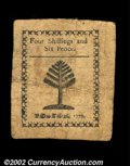 Colonial Notes:Massachusetts, Massachusetts 1779 4s6d Choice Very Fine. This lightly ...