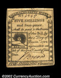 Colonial Notes:Massachusetts, Massachusetts 1779 5s4d Choice Extremely Fine. A beautiful ...