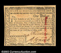 Colonial Notes:Massachusetts, Massachusetts May 5, 1780 $1 Gem New. An attempted cancel ...