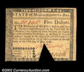 Colonial Notes:Massachusetts, Massachusetts May 5, 1780 $5 About New. Three examples of ...
