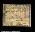 Colonial Notes:Massachusetts, Massachusetts May 5, 1780 $7 Choice New. This ...