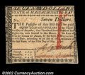 Colonial Notes:Massachusetts, Massachusetts May 5, 1780 $7 Choice New. But for its ...