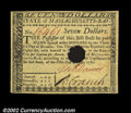 Colonial Notes:Massachusetts, Massachusetts May 5, 1780 $7. There are three notes of the ...