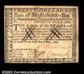 Colonial Notes:Massachusetts, Massachusetts May 5, 1780 $20 Choice About New. Fully ...