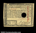 Colonial Notes:Massachusetts, Massachusetts May 5, 1780 $2, $3, $4, $20. All four notes ...