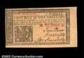 Colonial Notes:New Jersey, New Jersey March 25, 1776 1s Gem New. The margins range ...