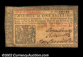 Colonial Notes:New Jersey, New Jersey March 25, 1776 1s New. Closely margined and ...
