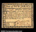 Colonial Notes:New Jersey, New Jersey June 9, 1780 $20 Choice About New. This is a ...