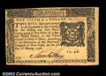 Colonial Notes:New York, New York March 5, 1776 $1/6 Gem New. A virtually perfect ...