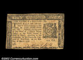 Colonial Notes:New York, New York March 5, 1776 $1/3 About New. A light center fold ...