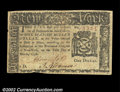 Colonial Notes:New York, New York March 5, 1776 $1 Very Fine-Extremely Fine. Well ...