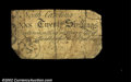 Colonial Notes:North Carolina, North Carolina April 4, 1748 20s Fine. This is one of only ...