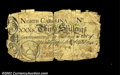 Colonial Notes:North Carolina, North Carolina April 4, 1748 30s Very Fine. Contemporarily ...