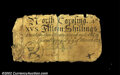 Colonial Notes:North Carolina, North Carolina March 9, 1754 15s Very Fine. The corners ...