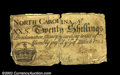Colonial Notes:North Carolina, North Carolina March 9, 1754 20s Very Fine. This note has ...