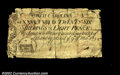 Colonial Notes:North Carolina, North Carolina March 9, 1754 26s8d Very Fine. Not backed, ...