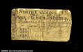 Colonial Notes:North Carolina, North Carolina March 9, 1754 30s Very Fine. Contemporarily ...