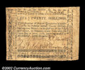 Colonial Notes:North Carolina, North Carolina December, 1768 20s Very Fine. A well signed,...