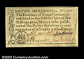 Colonial Notes:North Carolina, North Carolina December 1771 10s Superb Gem New. A bright, ...