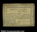 Colonial Notes:North Carolina, North Carolina August 8, 1778 $1/2 Extremely Fine. A ...
