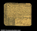 Colonial Notes:Pennsylvania, Pennsylvania March 10, 1769, 20s Fine. The corners are ...