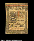 Colonial Notes:Pennsylvania, Pennsylvania October 1, 1773 50s Gem New. A lovely note, ...