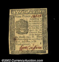 Colonial Notes:Pennsylvania, Pennsylvania April 25, 1776 9d Very Choice New. This Small ...