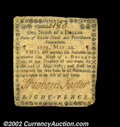 Colonial Notes:Rhode Island, Rhode Island May 22, 1777 $1/9 Very Fine. There are some ...