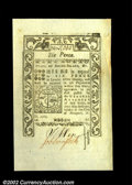 Colonial Notes:Rhode Island, Rhode Island May 1786 6d Superb Gem New. Broadly margined, ...