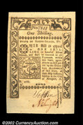 Colonial Notes:Rhode Island, Rhode Island May 1786 1s Superb Gem New. Very well ...