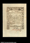 Colonial Notes:Rhode Island, Rhode Island May 1786 1s Superb Gem New. A hugely margined ...
