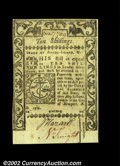 Colonial Notes:Rhode Island, Rhode Island May 1786 10s Choice New. Separated from the ...