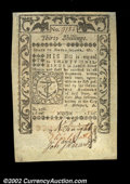 Colonial Notes:Rhode Island, Rhode Island May 1786 30s Gem New. Beautifully margined ...