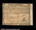 Colonial Notes:South Carolina, South Carolina October 19, 1776 $8 Extremely Fine. This ...