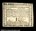 Colonial Notes:Virginia, Virginia March 1, 1781 $250 Choice Extremely Fine. An ...