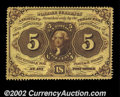 Fractional Currency:First Issue, Fr. 1228 5c First Issue Very Choice New. A near-Gem ...