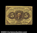 Fractional Currency:First Issue, Fr. 1228 5c First Issue New. Perforated on three sides, ...