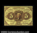 Fractional Currency:First Issue, Fr. 1229 5¢ First Issue Very Choice New. A fresh and ...