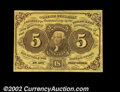 Fractional Currency:First Issue, Fr. 1230 5c First Issue Very Choice New. A near-Gem ...
