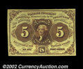 Fractional Currency:First Issue, Fr. 1231 5c First Issue Gem New. An evenly margined, ...