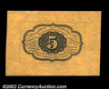 Fractional Currency:First Issue, Fr. 1231SP 5c First Issue Wide Margin Pair Superb Gem New. ...