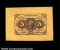 Fractional Currency:First Issue, Fr. 1231SP 5¢ First Issue Wide Margin Face Superb Gem New. ...