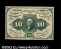 Fractional Currency:First Issue, Fr. 1242 10¢ First Issue Superb Gem New. Beautifully ...