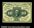 Fractional Currency:First Issue, Fr. 1243 10c First Issue Very Choice New. With a hair more ...
