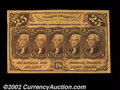 Fractional Currency:First Issue, Fr. 1281 25c First Issue Gem New. Broadly margined, bright ...